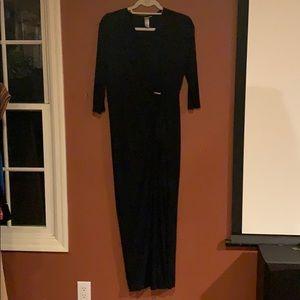 Emma & Michele dark Navy blue Evening dress size L